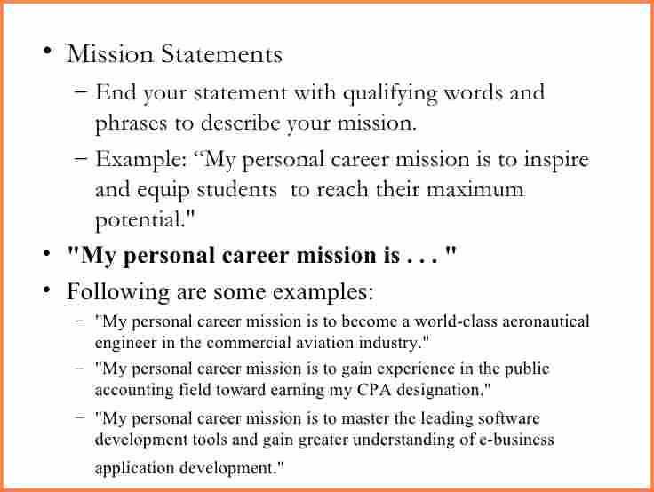 Personal Branding Statement Samples Elegant 13 Mission Statement Examples
