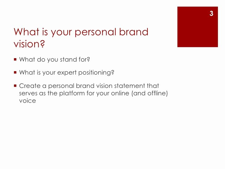 Personal Branding Statement Samples Unique Create A Personal Brand Vision Statement