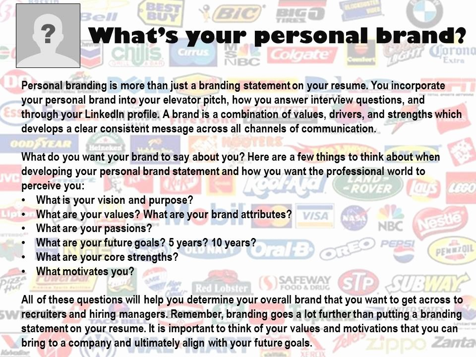 Personal Branding Statements Examples Beautiful Personal Brand