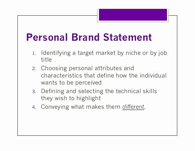 Personal Branding Statements Examples Inspirational the 25 Best Personal Brand Statement Examples Ideas On