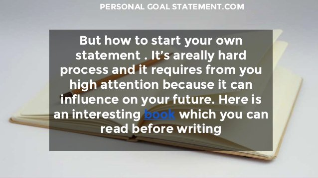 Personal Goal Statement Lovely How to Write An Effective Personal Goal Statement