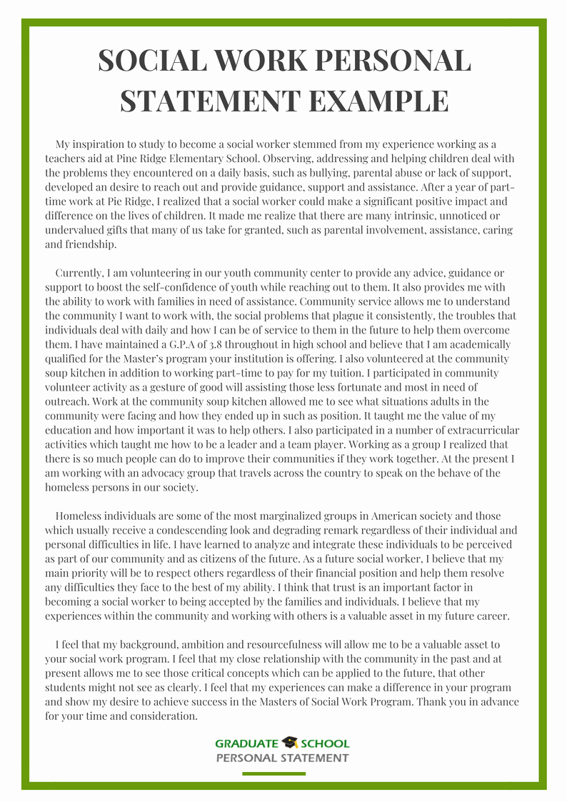 Personal Goals Statement Awesome Example From Graduate School Personal Statement Experts