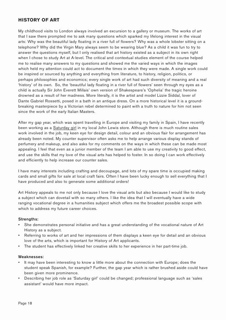 Personal History Statement Example Unique Personal Statement Management Undergraduate