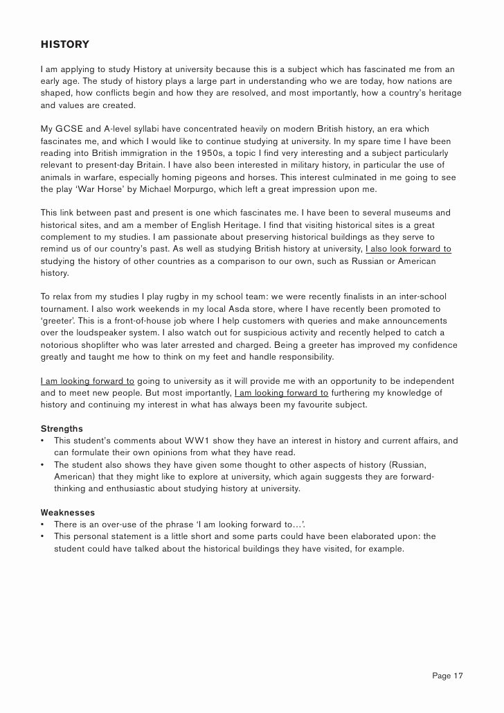 Personal History Statement Sample Fresh Personal Statement Writing Guide