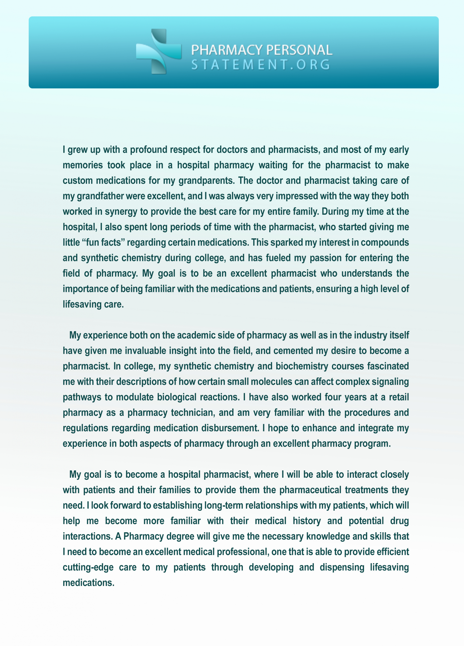 Personal History Statement Sample Fresh We Provide Pharmacy Personal Statement Examples