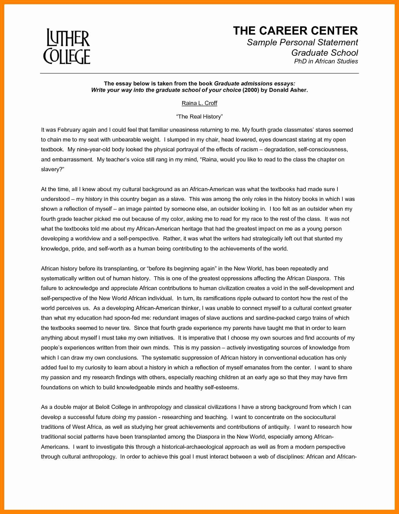 Personal History Statement Sample Inspirational 11 Personal Statement Samples