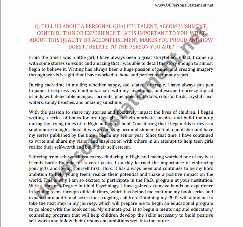 Personal History Statement Sample Lovely Uc Berkeley Personal Statement Writing Help