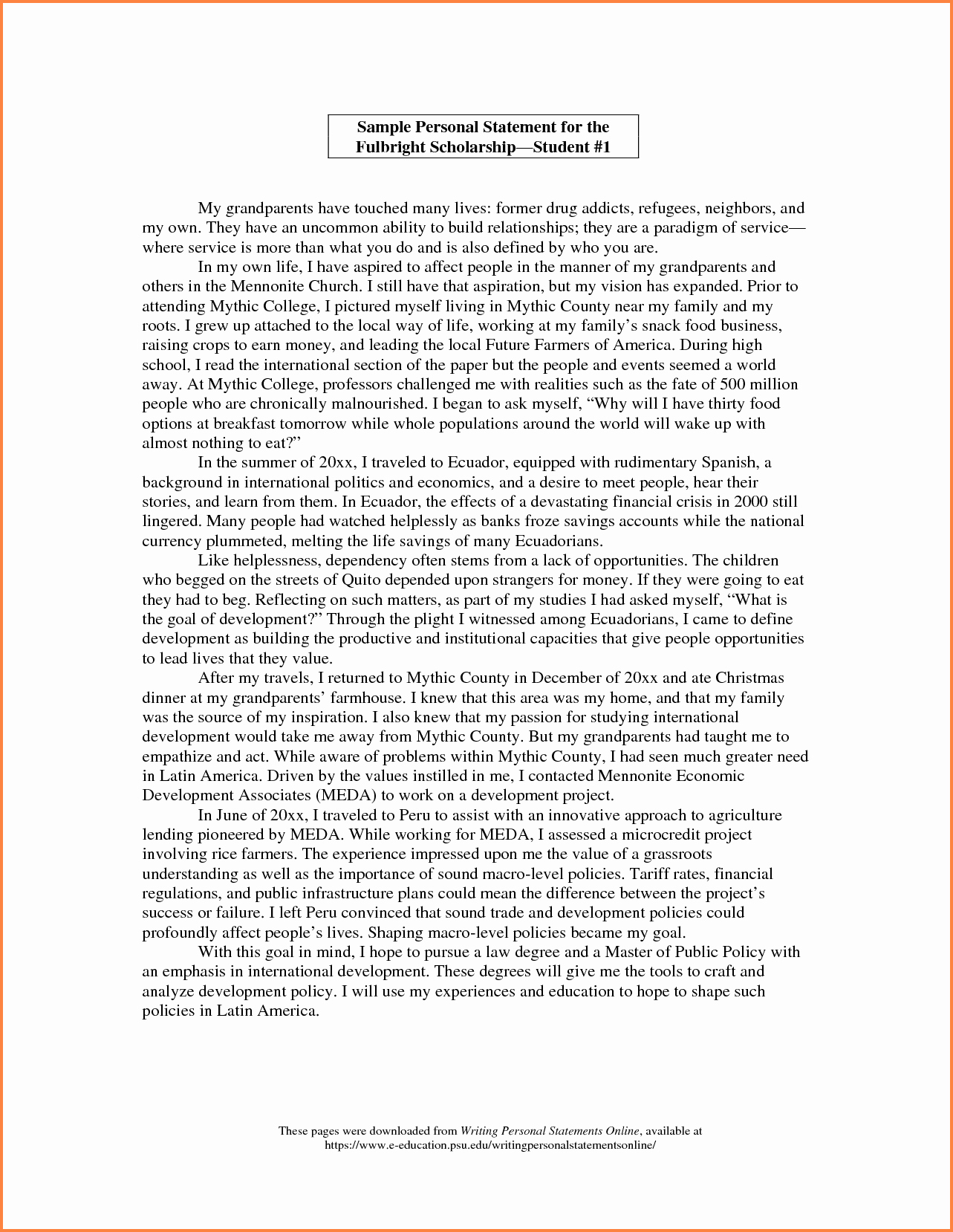 Personal History Statement Sample Unique 6 Sample Personal Statement