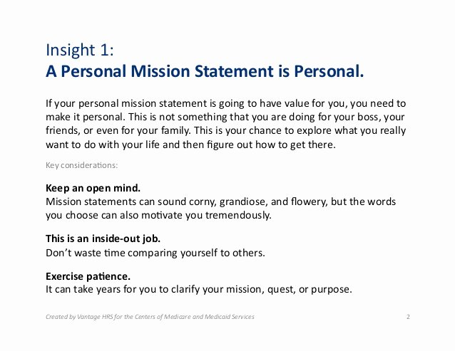 Personal Mission Statement Samples Unique Examples Of Personal Mission Statements for Students