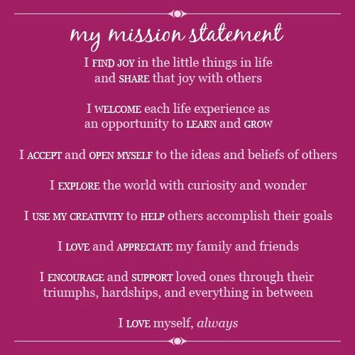 Personal Mission Statement Samples Unique Mission Possible Elembee Leader In Me
