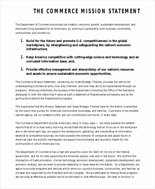 Personal Mission Statement Template Best Of Mission Statement Template 12 Free Word Pdf Document