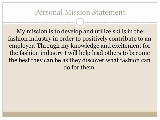 Personal Mission Statement Templates Best Of Julia S Career Portfolio