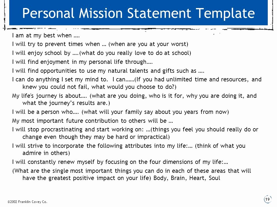 Personal Mission Statement Templates New Download Basic Stochastic Processes A Course Through