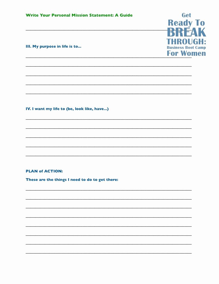 Personal Mission Statement Worksheet Beautiful How to Write A Personal Mission Statement A Guide by