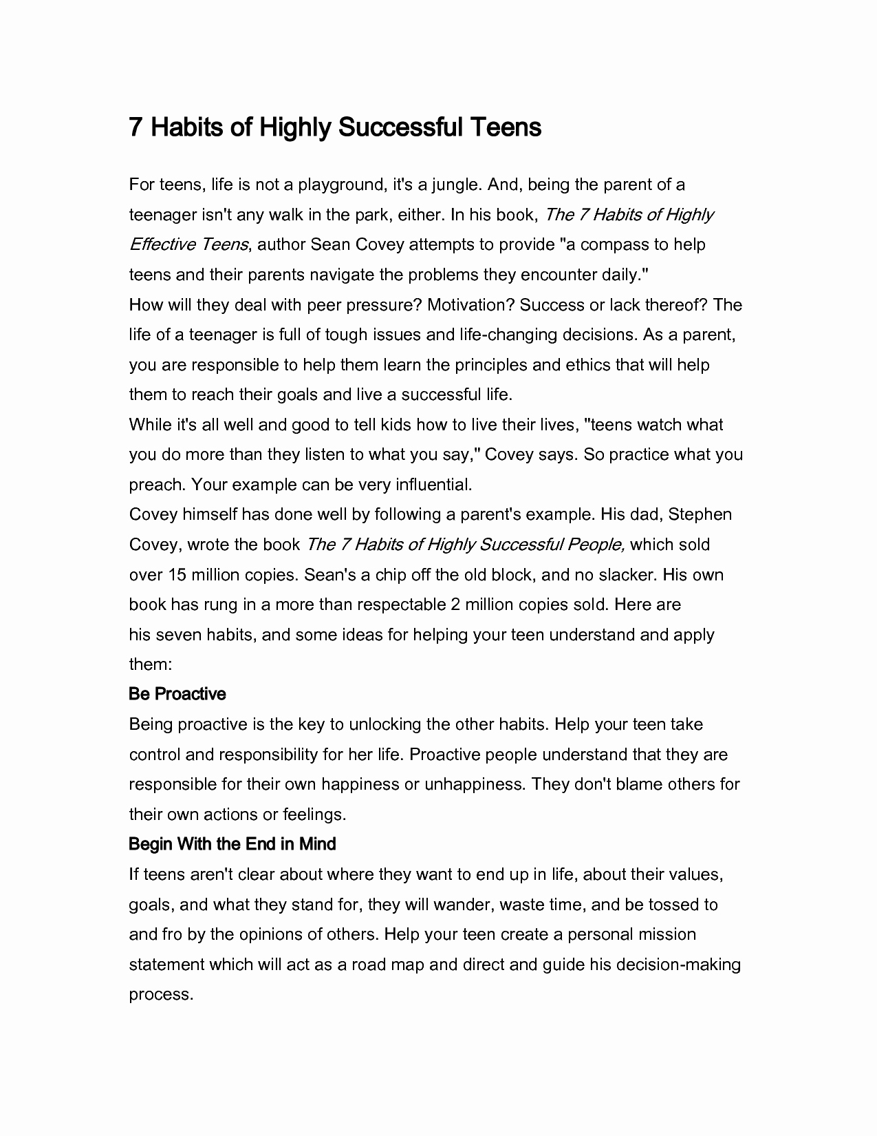 Personal Mission Statement Worksheet Luxury Worksheet 7 Habits Highly Effective Teens Worksheets