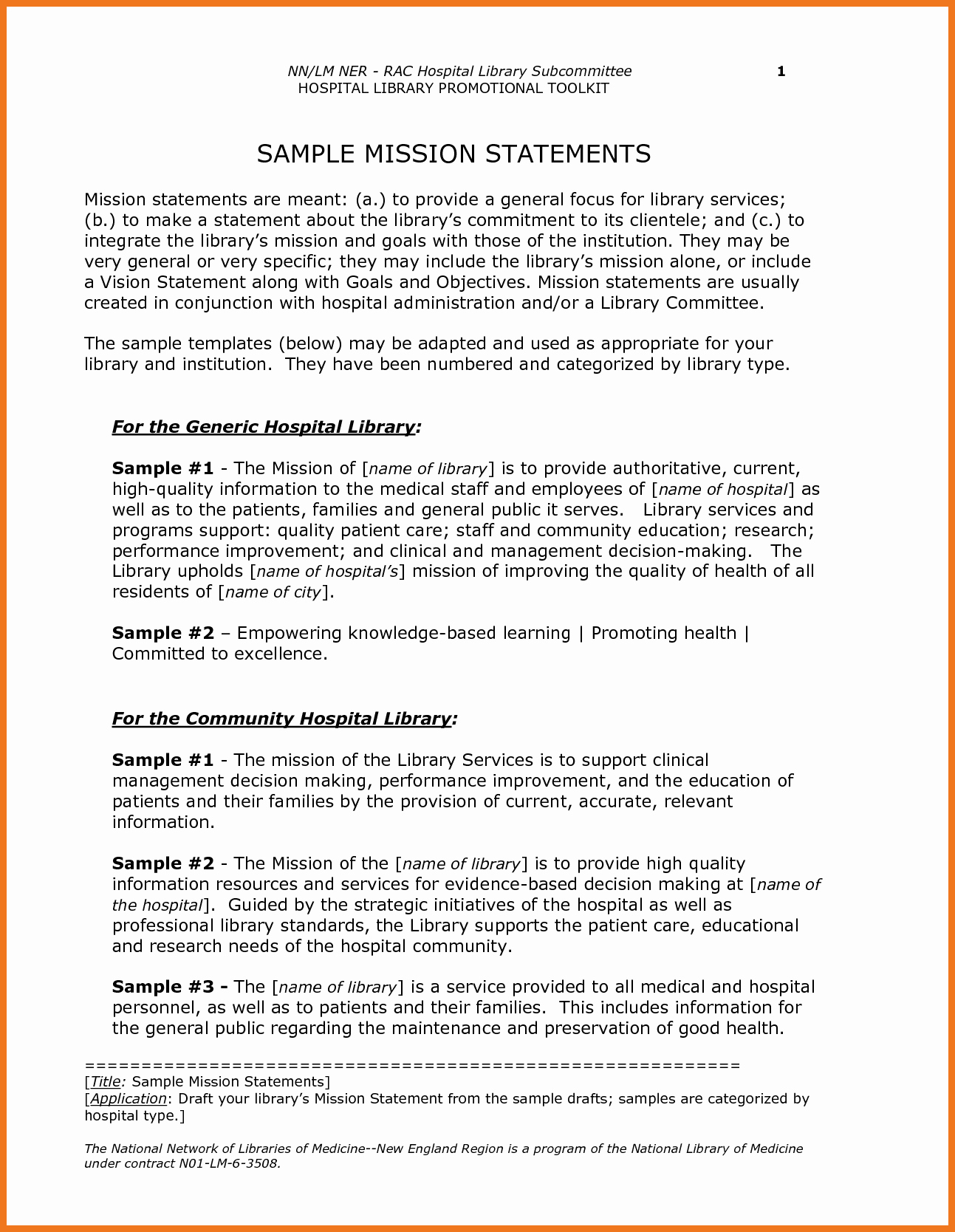 Personal Nursing Mission Statements Unique 0 1 Examples Of Mission Statements
