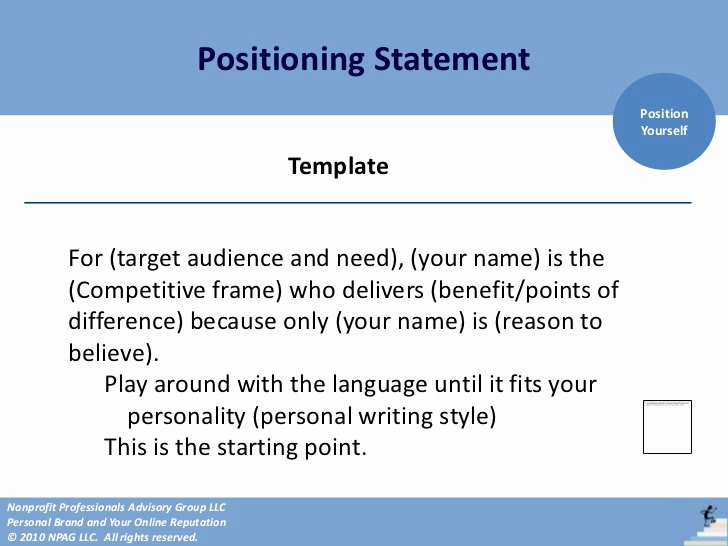 Personal Position Statement Examples Beautiful Personal Brand Positioning4