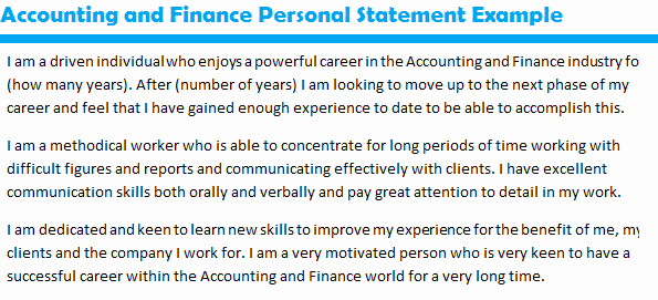 Personal Position Statement Examples New Job Application Personal Statement Samples