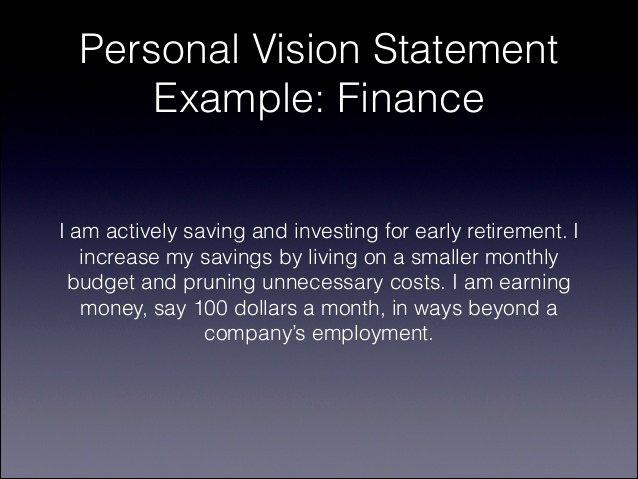 Personal Professional Vision Statement Examples Unique How to Write A Personal Vision Statement for 2014