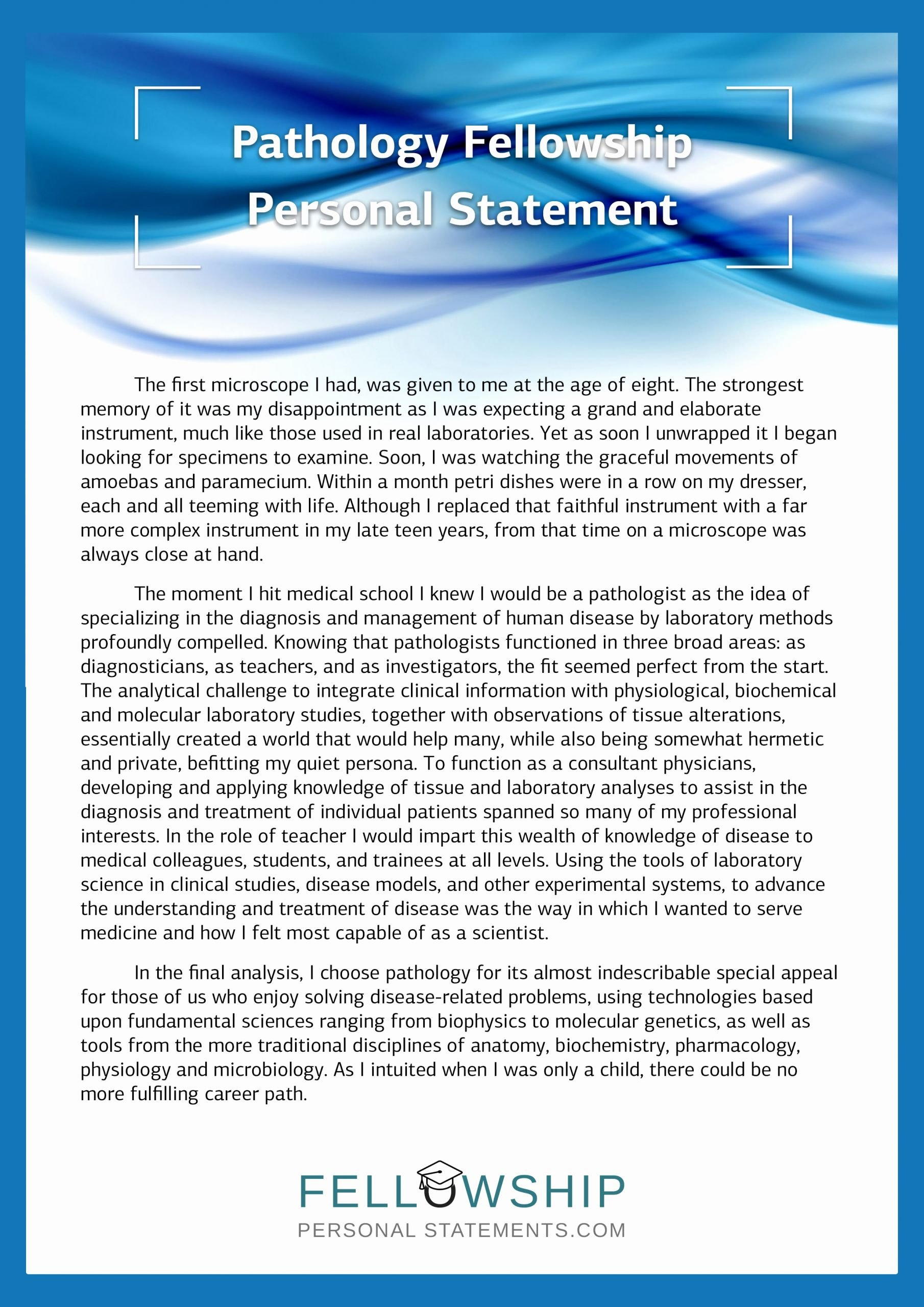 Personal Statement for Fellowship Sample Awesome Best Fellowship Personal Statement Sample