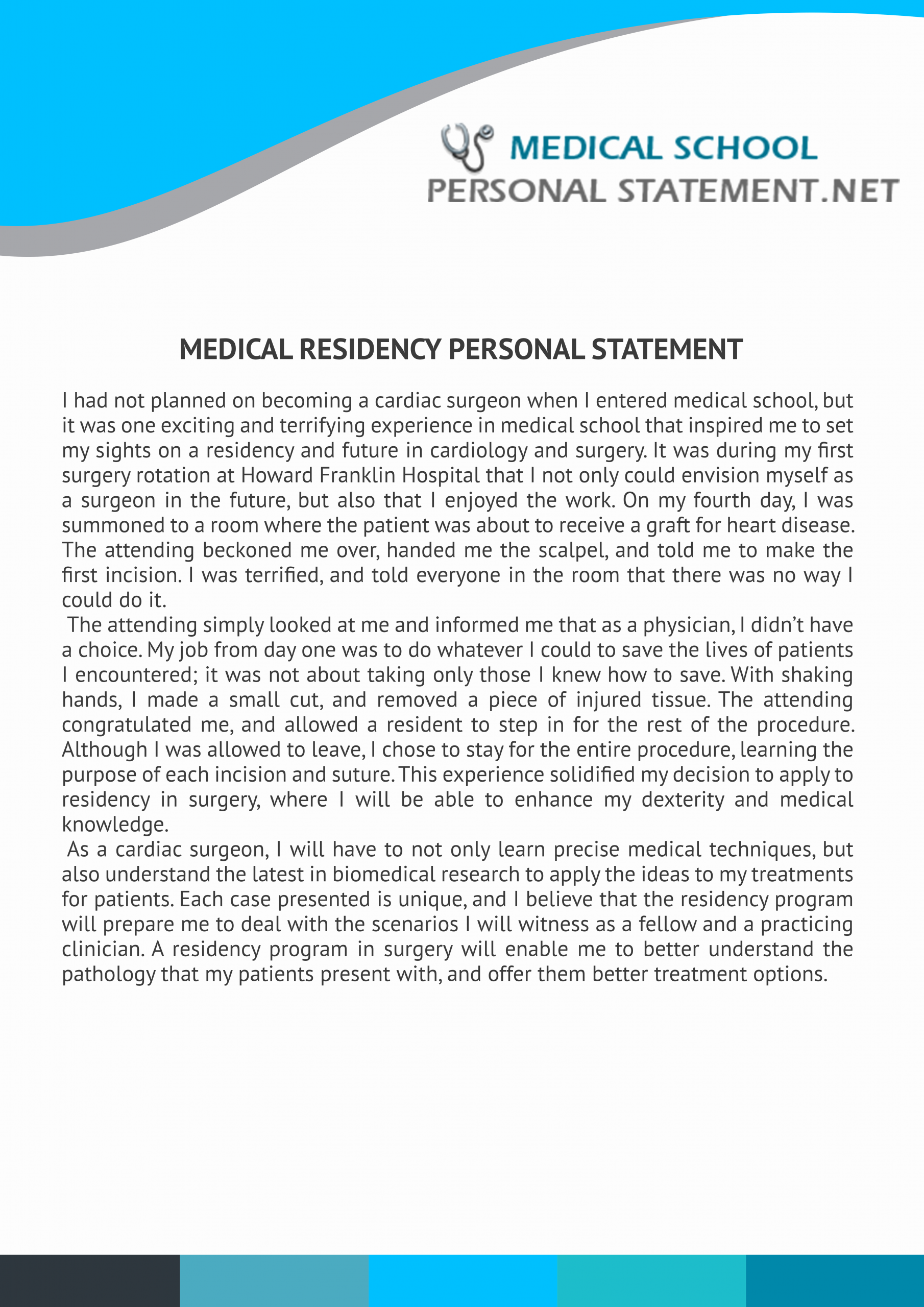 Personal Statement for Fellowship Sample Elegant Best Personal Statement Medical School Examples