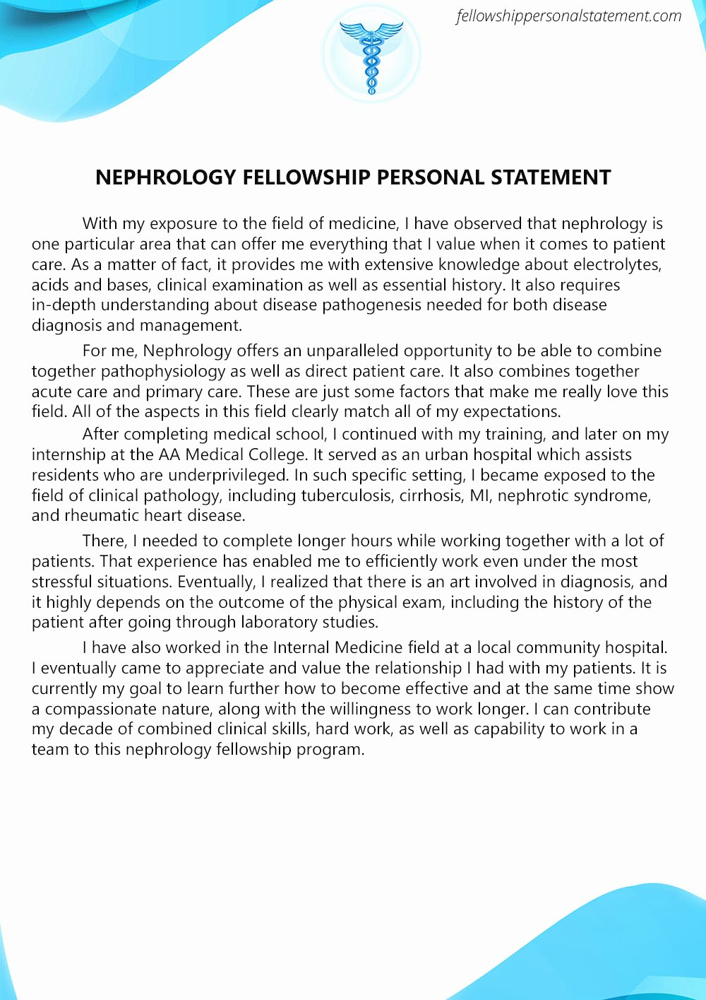 Personal Statement for Fellowship Sample Luxury Impressive Nephrology Fellowship Personal Statement Writing