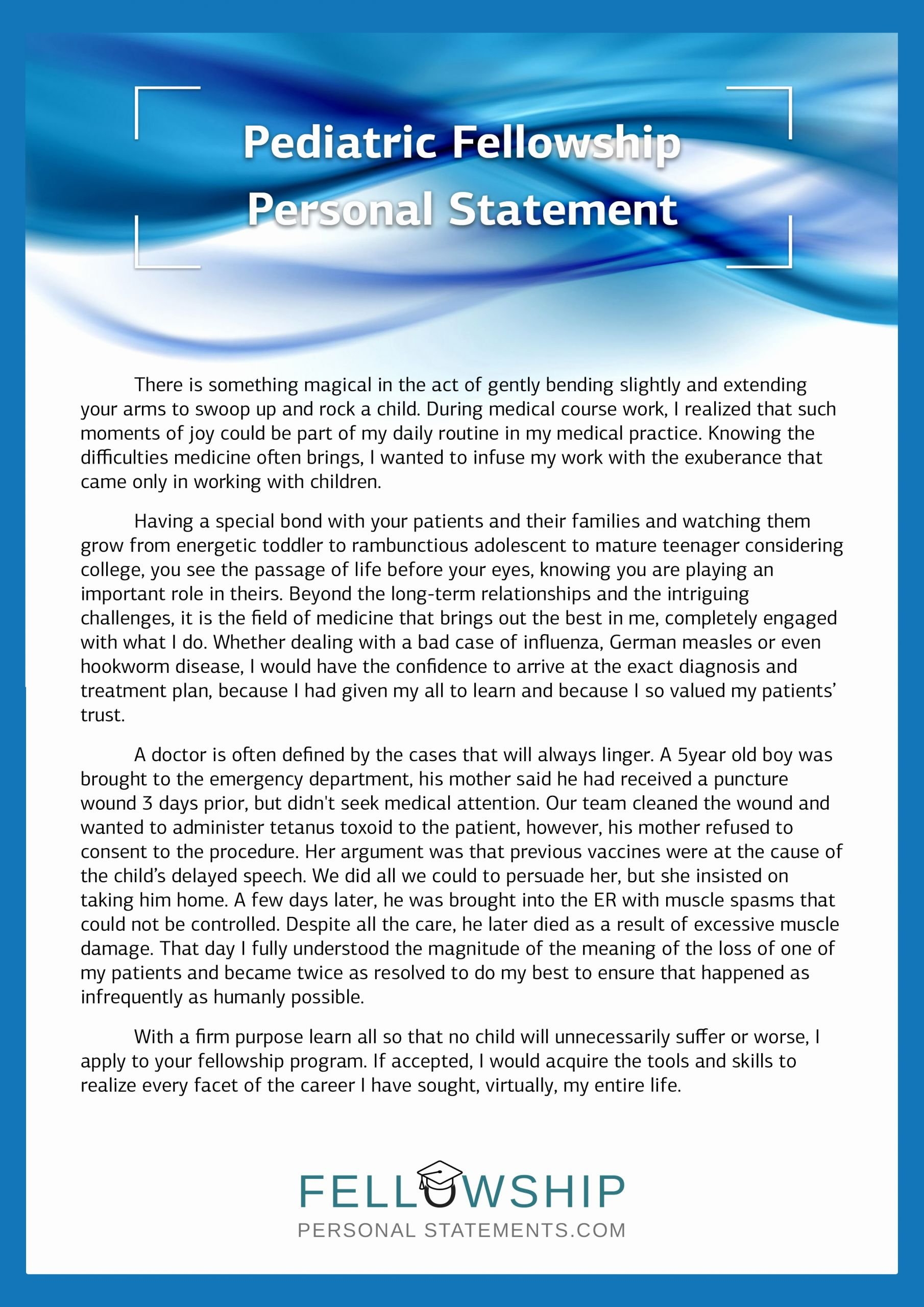 Personal Statement for Fellowship Sample Unique Best Fellowship Personal Statement Sample