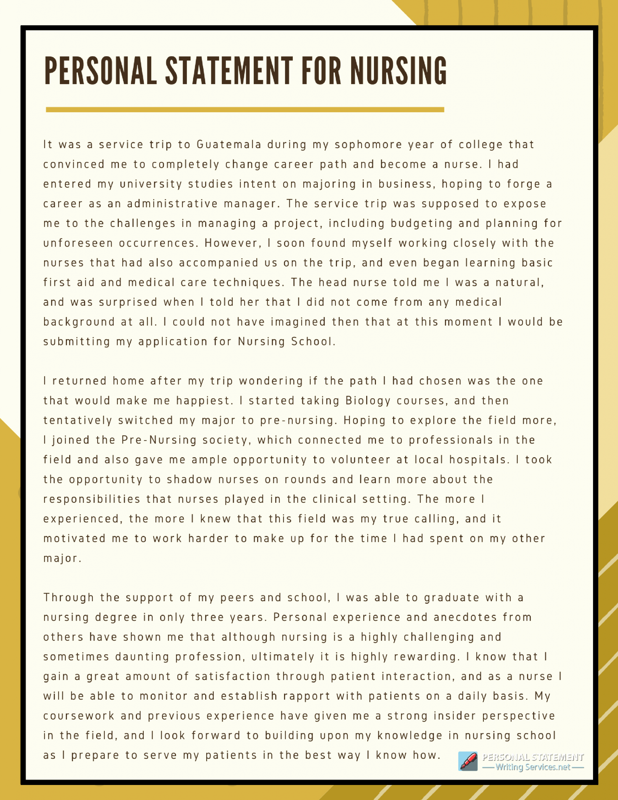 Personal Statement for Nursing School Awesome Best Personal Statement Nursing School