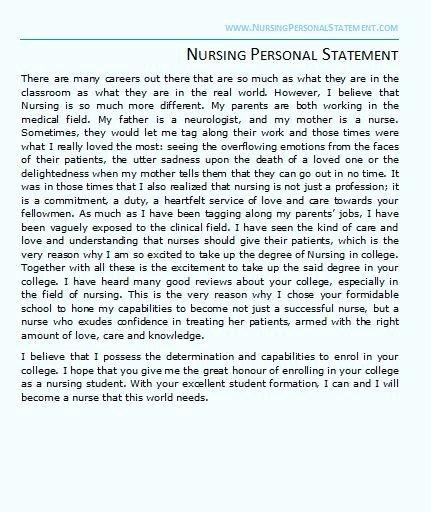 Personal Statement for Nursing School Fresh Nursing Personal Statement Example Nursing