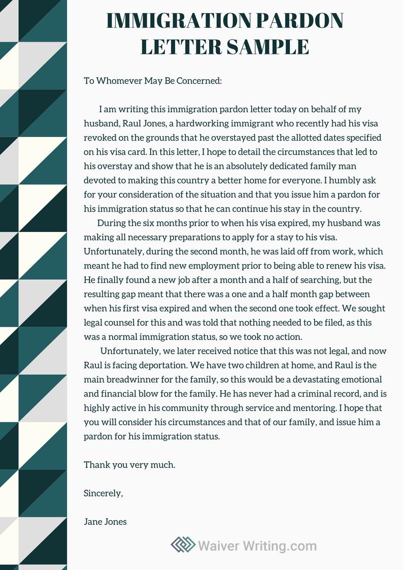 Personal Statement Immigrant Example Elegant Winning Immigration Pardon Letter