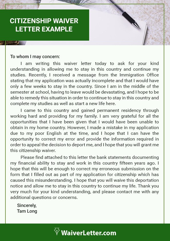 Personal Statement Immigrant Example Luxury Best Help to Apply for Citizenship Waiver Letter