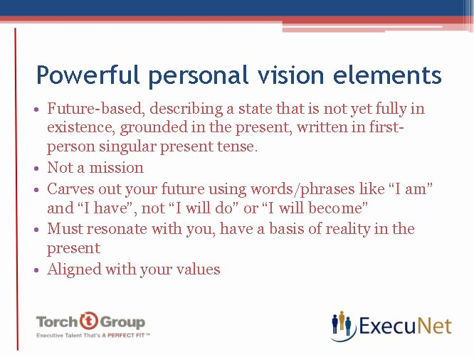 Personal Vision Statement Example Awesome Execunet Personal Vision Statement Necessary to Be Ing
