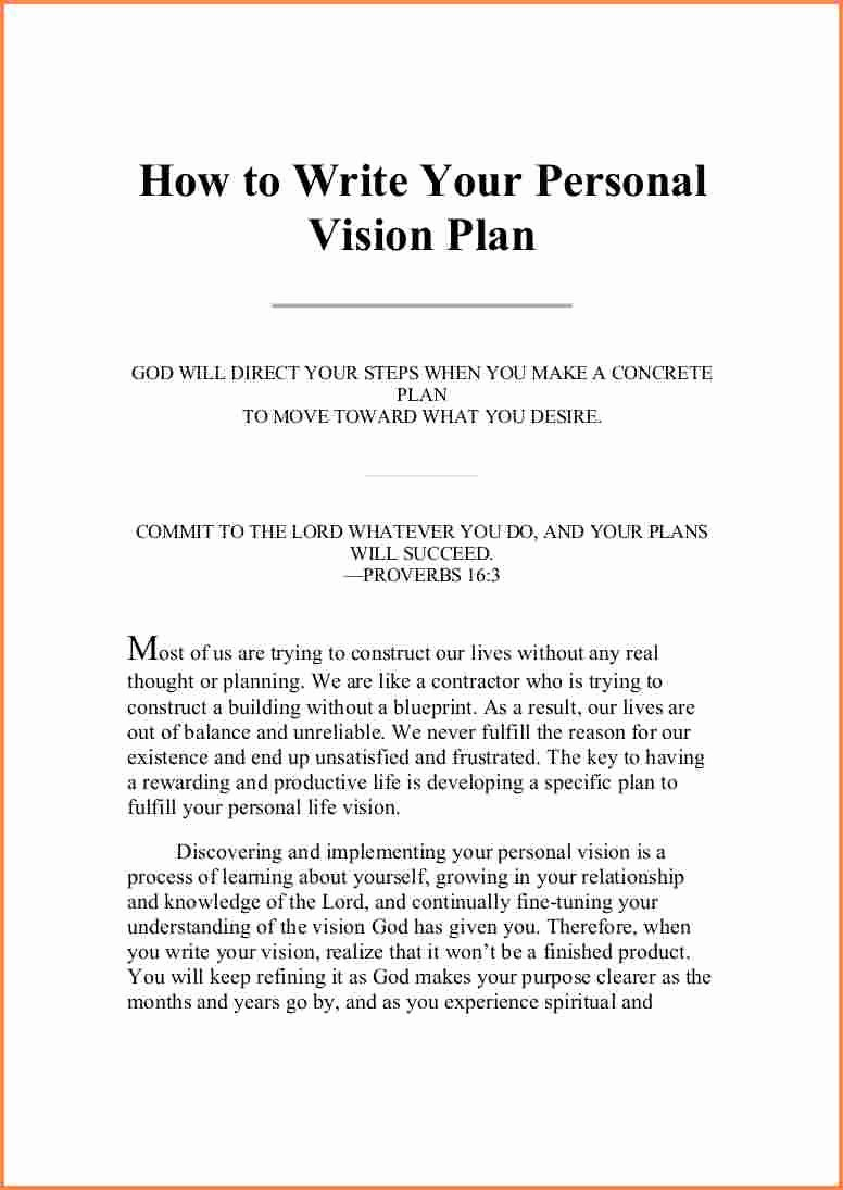 Personal Vision Statement Examples Business Best Of 6 Personal Vision Statements