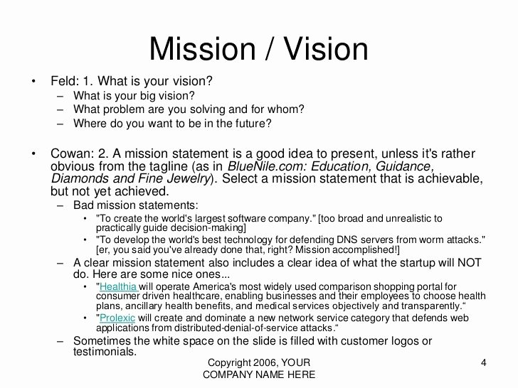 Personal Vision Statement Examples Business Elegant Vision Statement Examples for Business Yahoo Image