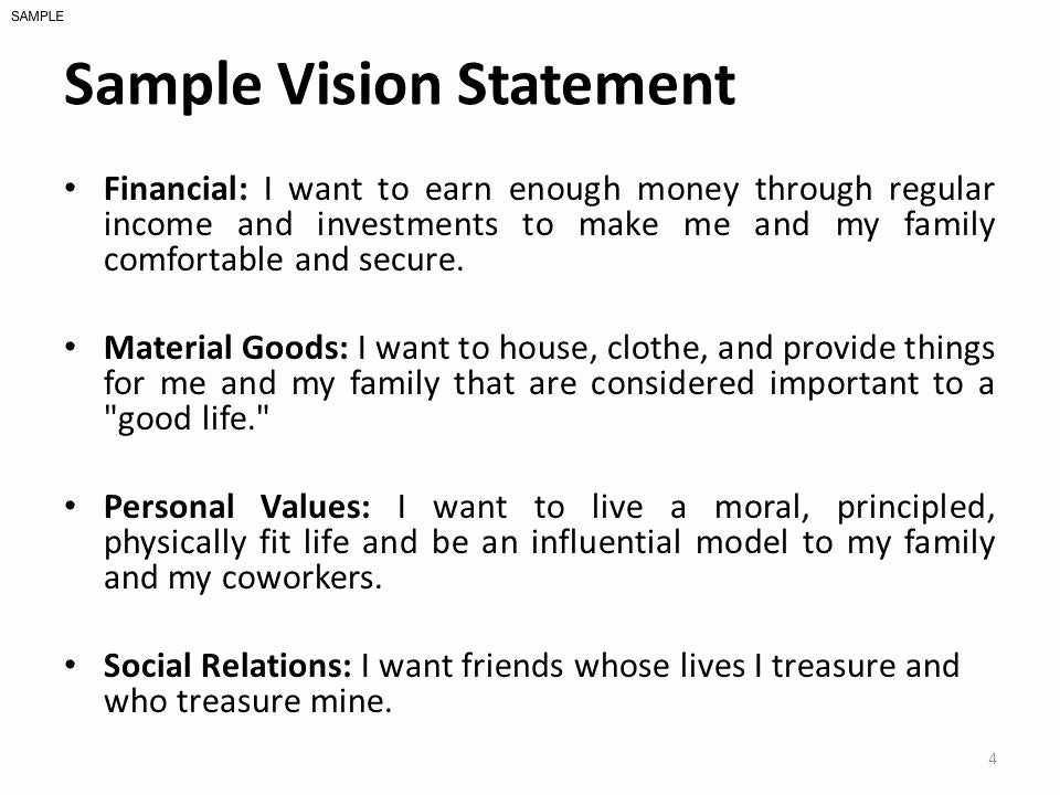 Personal Vision Statement Sample Awesome 12 Example Personal Vision Statement