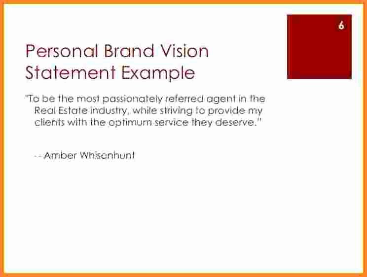Personal Vision Statement Template Unique 10 Personal Vision Statement Template