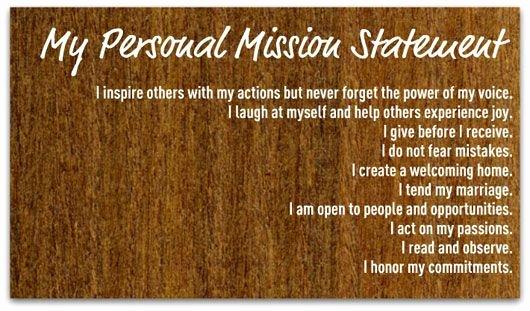 Personal Vision Statement Template Unique Create A Personal Mission Statement Your Step by Step Guide
