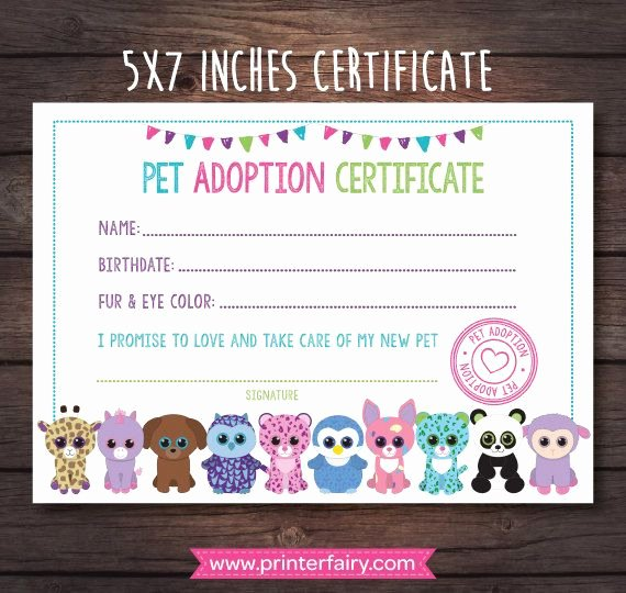 Pet Adoption Certificate Template Best Of Mira Este Artculo En Mi Tienda De Etsy Y