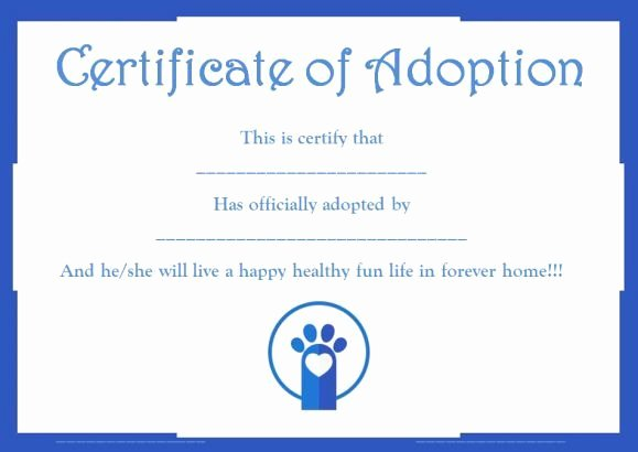 Pet Adoption Certificate Template Elegant 10 Best Pet Adoption Certificate Images On Pinterest