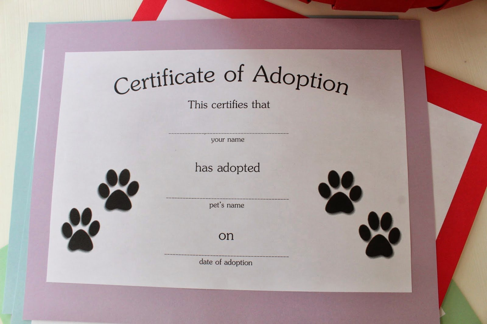 Pet Adoption Certificate Template Free Beautiful Keeping Up with the Kiddos Puppy Dog & Kitty Cat Birthday