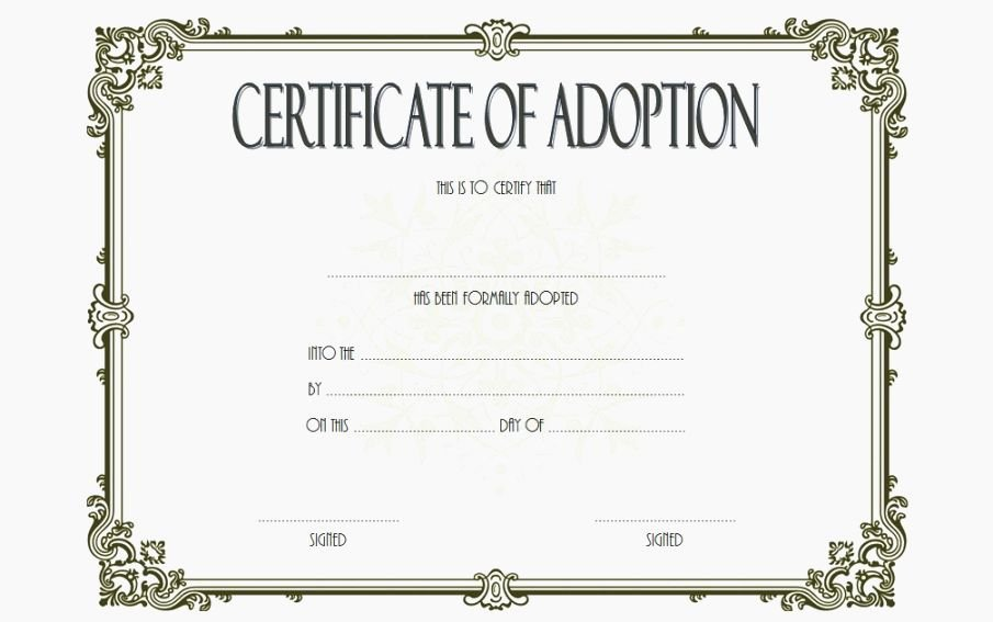 Pet Adoption Certificate Template Free Elegant Mesmerizing Free Printable Adoption Certificate