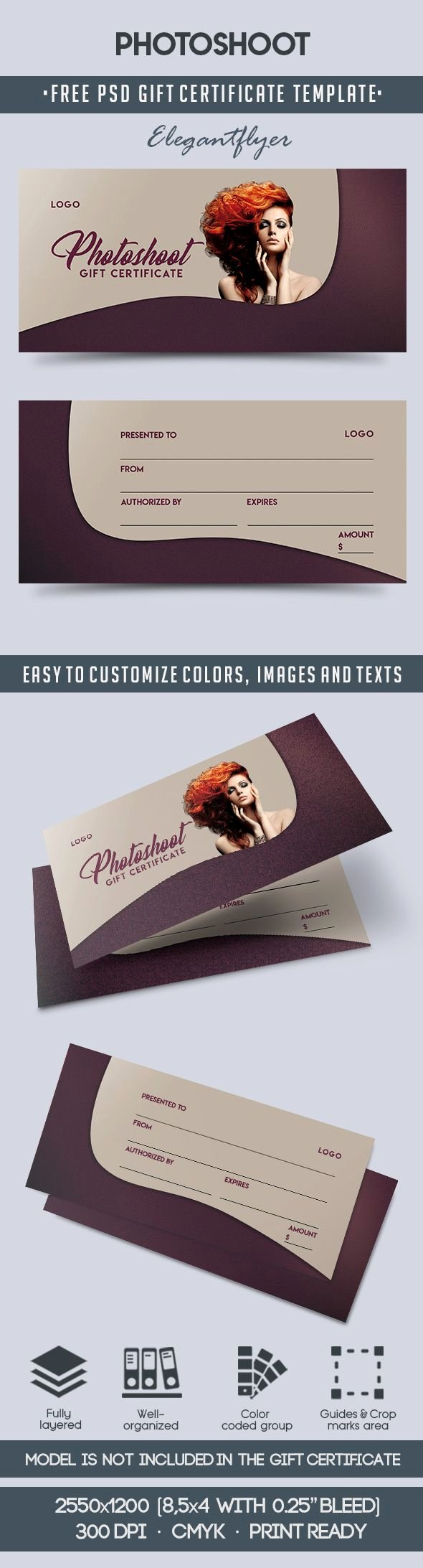 Photo Session Gift Certificate Template Awesome Shoot – Free Gift Certificate Psd Template – by