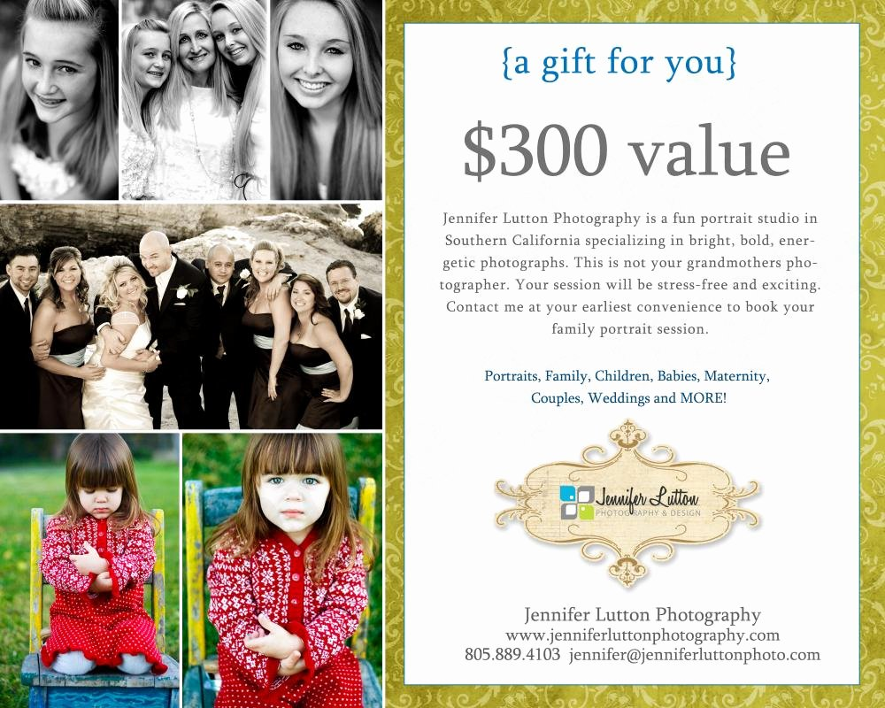 Photo Session Gift Certificate Template Best Of Graphy Gift Certificate