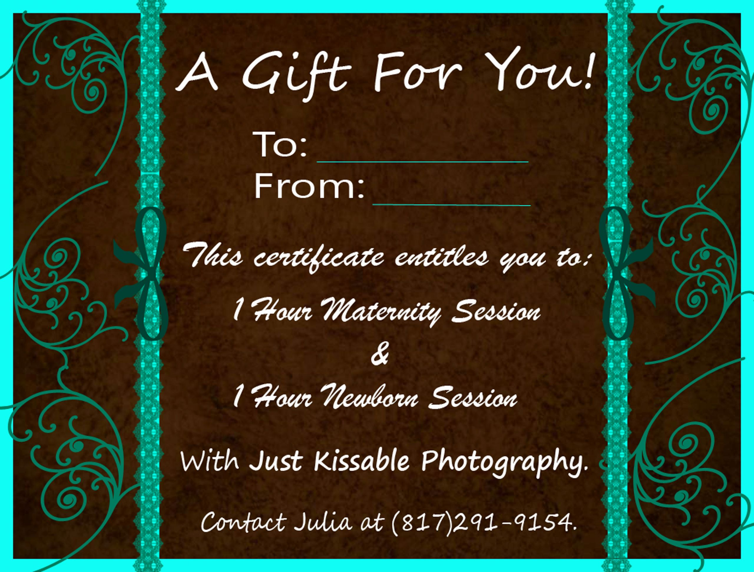 Photo Session Gift Certificate Template Best Of Kissing & Blogging