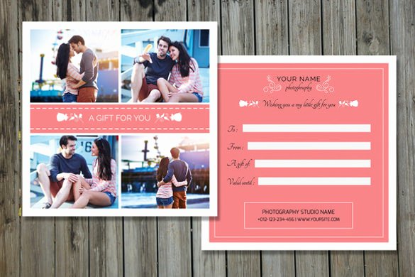 Photo Session Gift Certificate Template Luxury Graphy Gift Certificate Templates – 17 Free Word