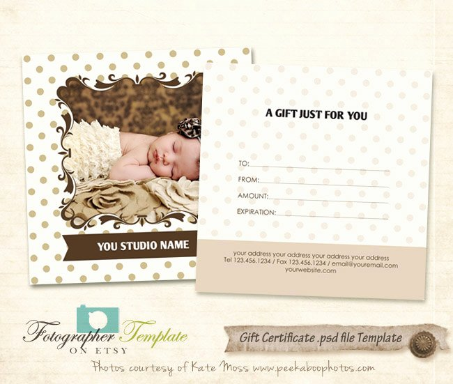 Photographer Gift Certificate Template Awesome Gift Certificate Card Template Graphy Templates