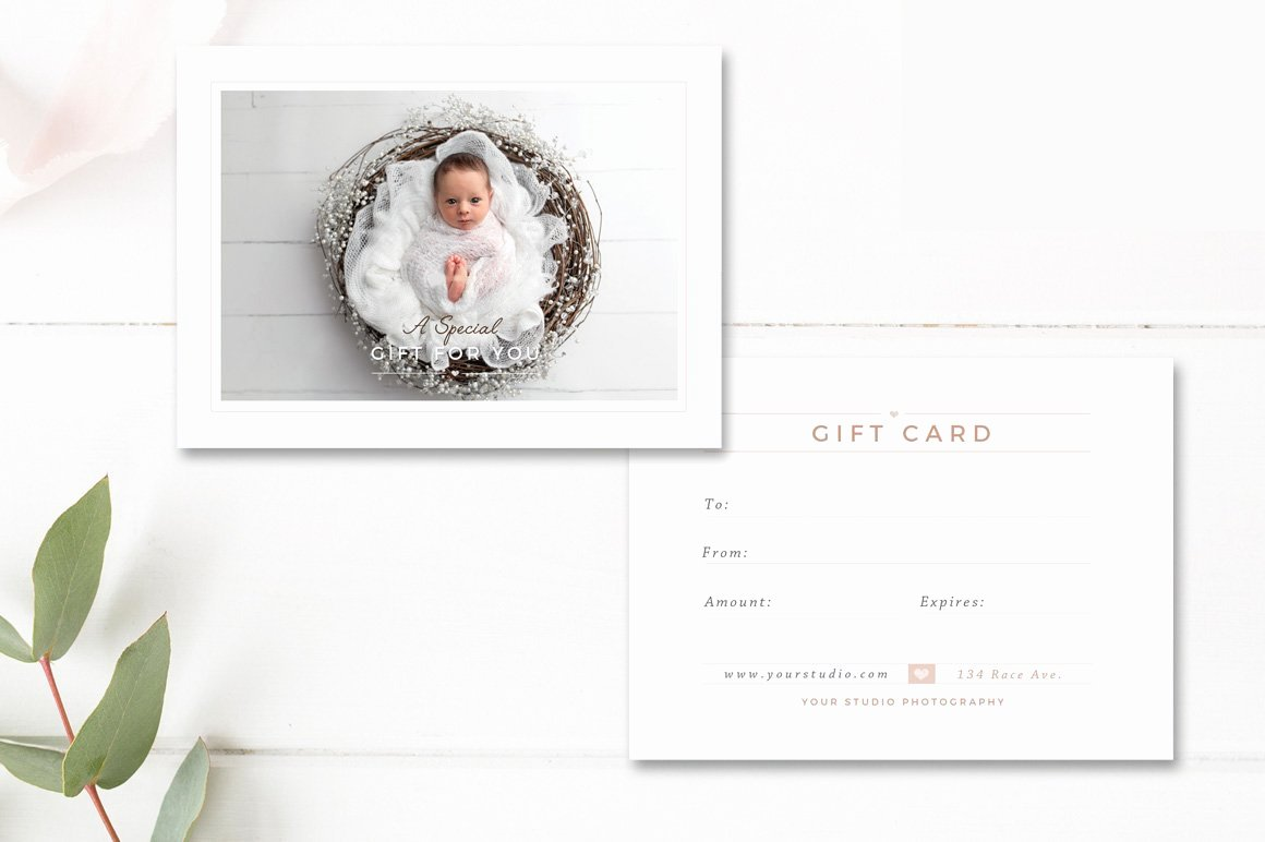 Photographer Gift Certificate Template Best Of Newborn Grapher Gift Card Card Templates Creative