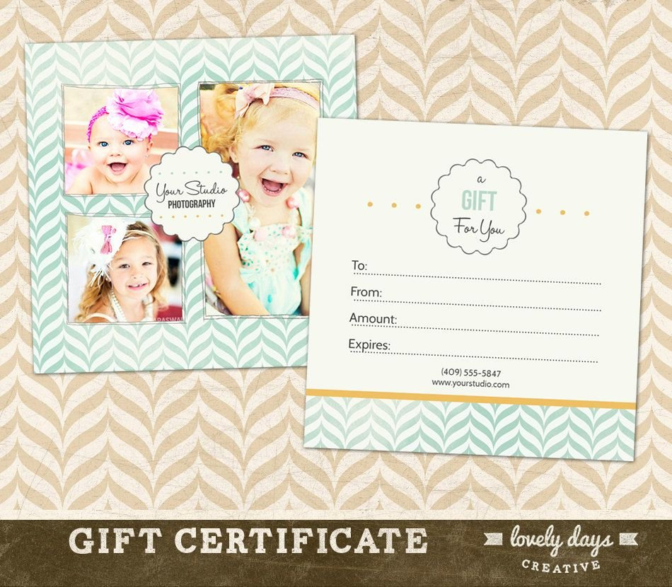 Photographer Gift Certificate Template Elegant Graphy Gift Certificate Template for Professional