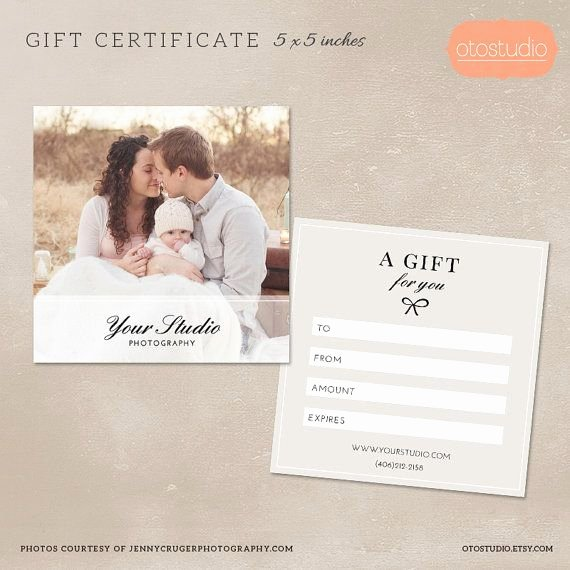 Photographer Gift Certificate Template Lovely Graphy Gift Certificate Template for Graphers