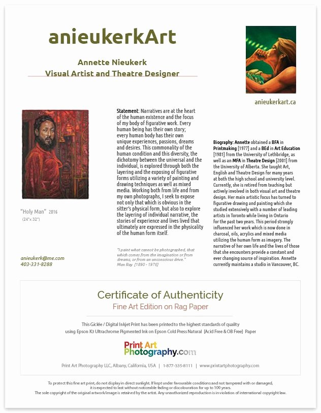 Photography Certificate Of Authenticity Template Awesome Print Art Graphy Certificate Of Authenticity Print